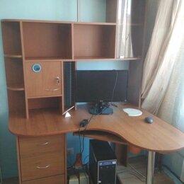 Компьютерные и письменные столы - Компьютерный стол угловой с полками, 0