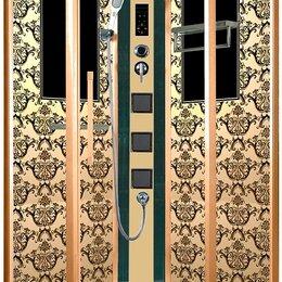Души и душевые кабины - Душевая кабина Niagara Lux 7717G золото (100x100), 0