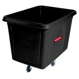 Контейнеры и ланч-боксы - Кубический контейнер на колёсах Rubbermaid, чёрный, 500 литров, 0