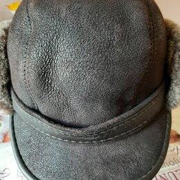 Головные уборы - Шапка жокейка из овчины мужская чёрная, 0