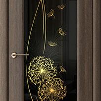 Межкомнатные двери - Дверь межкомнатная Одуванчик (экошпон), 0