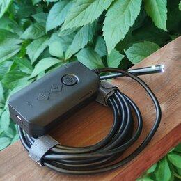 Видеокамеры - Эндоскоп с двумя камерами с WiFi и Zoom, 0