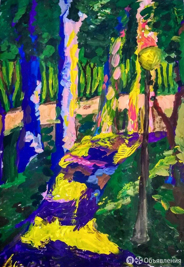 Этюд гуашью В парке по цене 900₽ - Картины, постеры, гобелены, панно, фото 0