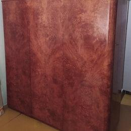 Шкафы, стенки, гарнитуры - Платяной шкаф из шпона карельской березы. (180х175х60см), 0