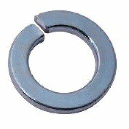 Шайбы и гайки - Оцинкованная пружинная шайба Метиз-Эксперт 24 DIN127 (100 шт.), 0