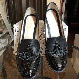 Туфли - Лоферы женские натуральная кожа новые, 0