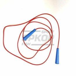 Скакалки - Скакалка спортивная резин пластикат цветная  пластик ручки d5 мм 3 м, 0