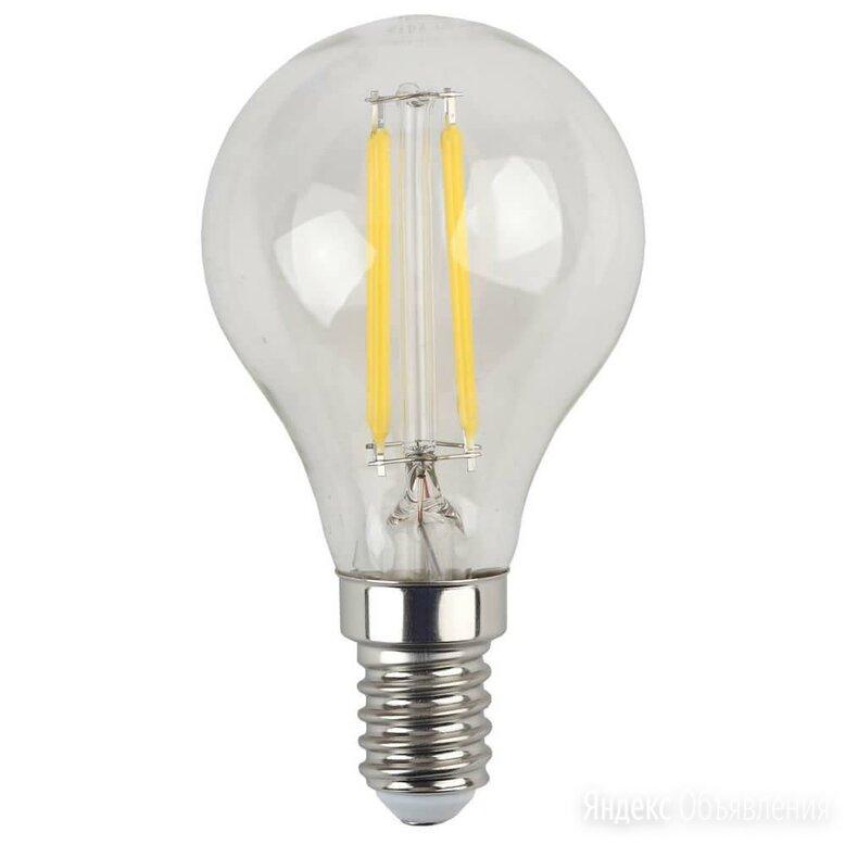 Лампа светодиодная филаментная ЭРА E14 5W 2700K прозрачная F-LED P45-5W-827-E... по цене 135₽ - Лампочки, фото 0