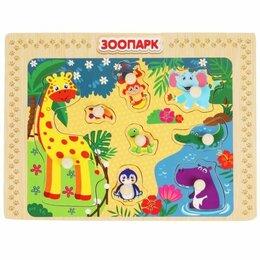 Развивающие игрушки - Игрушка деревянная рамка-вкладыш «зоопарк» ТМ «Буратино» в кор.100шт, 0