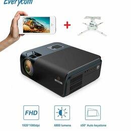 Проекторы - Проектор, Wi-Fi, 1080P, Everycom R15А + крепление, 0