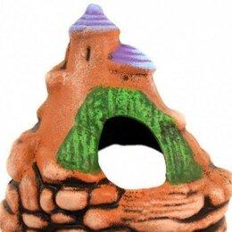 Новогодний декор и аксессуары - Замок-юла на скале К58 керамика 13*11*12см, 0