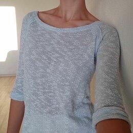 Блузки и кофточки - Голубая вязання блуза, 0