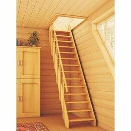 Лестницы и элементы лестниц - ПРАКТИК ЛМС-02 Лестница прямая деревянная 69х300см , 0