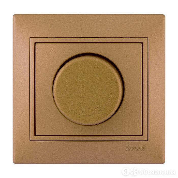 Светорегулятор (диммер) Lezard Mira поворотный с фильтром. 500 Вт, Золотой ме... по цене 713₽ - Товары для электромонтажа, фото 0