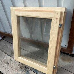 Окна - Окно деревянное 600х500 мм для бани и сауны, 0