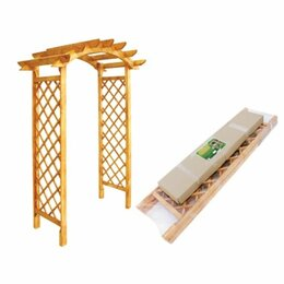 Шпалеры, опоры и держатели для растений - Деревянная арка Комплект-Агро KA0172, 0