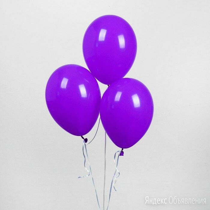 """Шар латексный 12"""", пастель, набор 25 шт., цвет сиреневый по цене 248₽ - Воздушные шары, фото 0"""