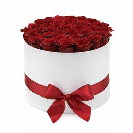 Цветы, букеты, композиции - Композиция в коробке 35 красных роз - L  (40см), 0