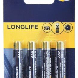 Батарейки - Батарейки Varta 4103 Longlife Extra BL-4+2(60) LR-03, 0