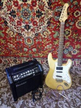Электрогитары и бас-гитары - Комбик + гитара, 0