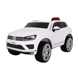 Электромобили - Детский электромобиль Dake VW Touareg White 12V 2.4G - F666-WHITE, 0