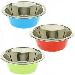 Миски, кормушки и поилки - Миска метал. цветная VM-2603 (A), 240 мл, 0