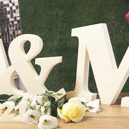 Свадебные украшения - Золотые буквы из пенопласта на свадьбу, 0