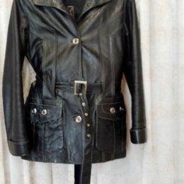 Куртки - Женская кожаная куртка, 0