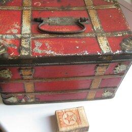 Другое - Ларец, коробка жестяной, старинный., 0