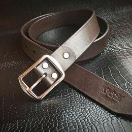 Ремни, пояса и подтяжки - Мужской кожаный ремень стальная пряжка, 0