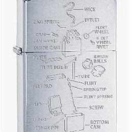 Пепельницы и зажигалки - Зажигалка Zippo 200 Anatomy Of Lighter, 0