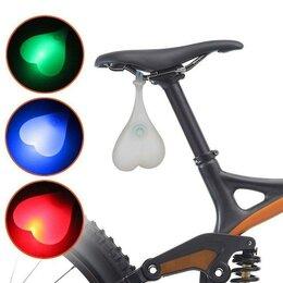Фонари - Силиконовый задний велосипедный фонарь Сердце Led, 0