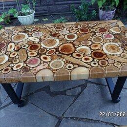 Столы - столик  из торцевых спилов дерева, 0