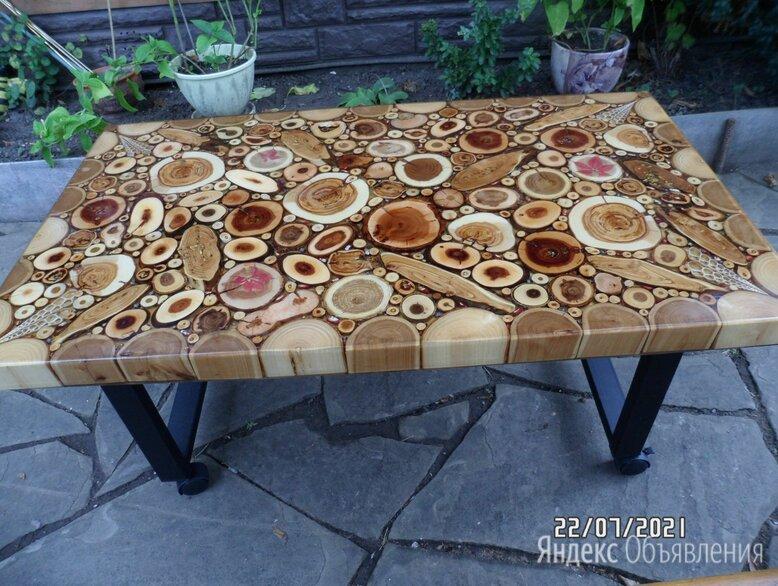 столик  из торцевых спилов дерева по цене 20000₽ - Столы, фото 0