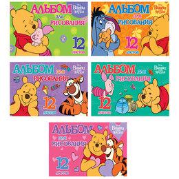 """Рисование - Альбом для рисования 12л., А5, на скрепке Hatber """"Disney. Винни и его друзья"""", 0"""
