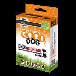 Ошейники  - GOOD DOG Антипаразитарный БИОошейник для СОБАК от блох и клещей, ЧЕРНЫЙ 65 см , 0