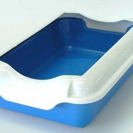 Туалеты и аксессуары  - Туалет для кошек с бортиком без сетки HOMECAT (37*27*11,5) синий, (бортик в к..., 0