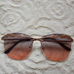 Очки и аксессуары - Очки с золотой оправой женские, 0