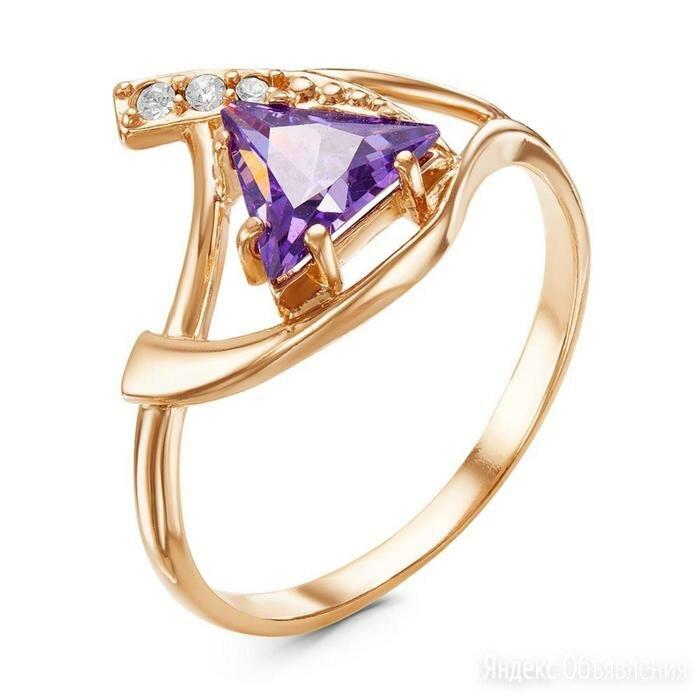 Кольцо 'Ладья', позолота, цвет фиолетовый, 18,5 размер по цене 441₽ - Кольца и перстни, фото 0