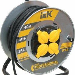 Электроустановочные изделия - Удлинитель на катушке «PROFESSIONAL» 4гн 40м с/з 3500Вт КГ 3*1.5 ИЭК, 0