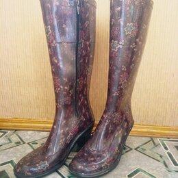 Резиновые сапоги и калоши - Резиновые сапоги на удобном каблуке 39 / 40 р-р, 0