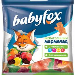 Лакомства  - Мармелад жевательный Babyfox бегемоты 30г пак., 0