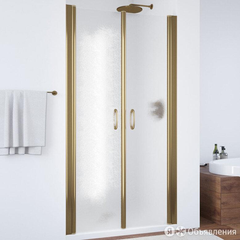 Душевая дверь в нишу Vegas Glass E2P 85 05 02 профиль бронза, стекло шиншилла по цене 38430₽ - Полки, шкафчики, этажерки, фото 0