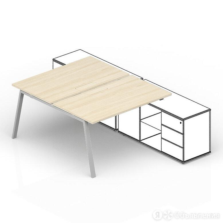 Составной стол на 2 рабочих места Arena для крепления к сервисным опорным тум... по цене 39000₽ - Мебель для учреждений, фото 0