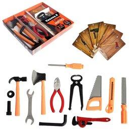 Детские наборы инструментов - Набор инструментов «Супер мастер», с обучающими карточками, 13 элементов, 0
