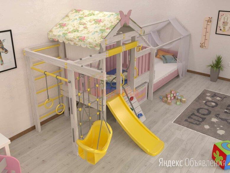 Игровой комплекс Савушка Baby 6 розовый по цене 57500₽ - Игровые и спортивные комплексы и горки, фото 0