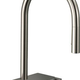 Краны для воды - Смеситель Hansgrohe Aquno Select M81 73831800 для кухонной мойки, сталь, 0