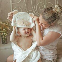 Полотенца - Детские полотенца махровые с уголком , 0