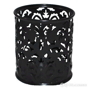"""Стакан """"KWELT"""" металлический ажурный, круглый, черный арт.К-1909 по цене 120₽ - Декоративная посуда, фото 0"""