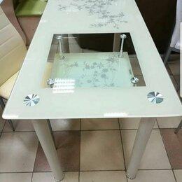 Столы и столики - Стеклянный обеденный стол , 0